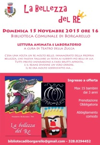 La bellezza del re e Mascheriamoci a Borgarello PV 15.11.2015