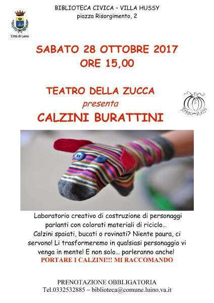 Volantino Calzini Burattini 28 ottobre 2017 Luino VA