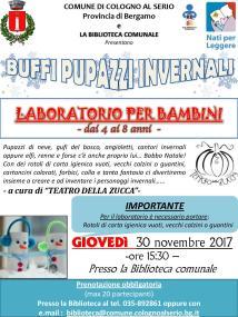 Volantino Cologno al Serio (BG) nov 2017 lab buffi pers