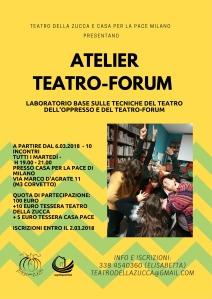 Atelier TDo Casa per la Pace marzo 2018