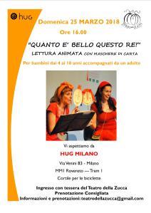 Volantino A4 Lettura HUG Milano marzo 2018