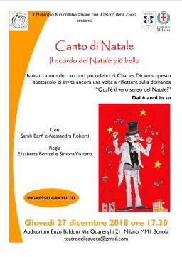 Locandina A4 27 dicembre 2018 Canto di Natale Auditorium Baldoni