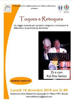 Locandina A4 10 dic 2018 Toques Auditorium Baldoni