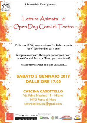 Locandina A4 5 gennaio 2019 Open Day Casottello befanella