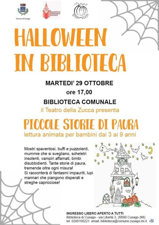 Locandina Halloween 2019 Cusago Piccole storie di paura