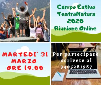 Campo Estivo TeatroNatura 2020 Riunione online Online (3)